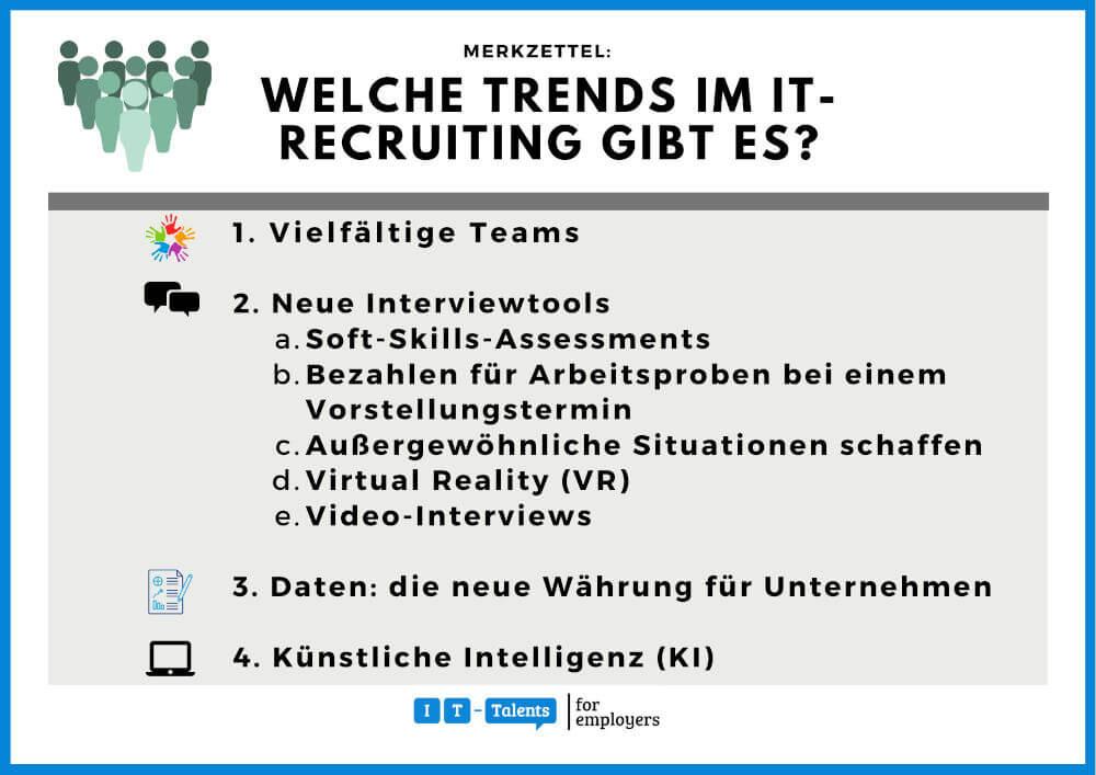 Recruiting Trends Merkzettel