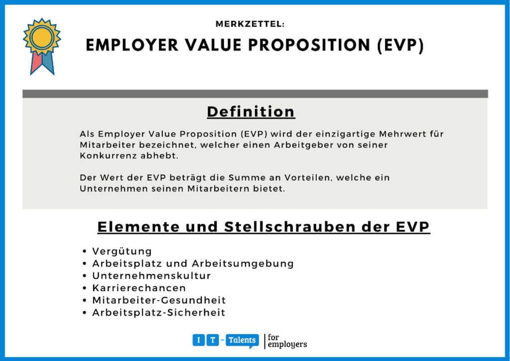 Employer Value Proposition (EVP) Merkblatt
