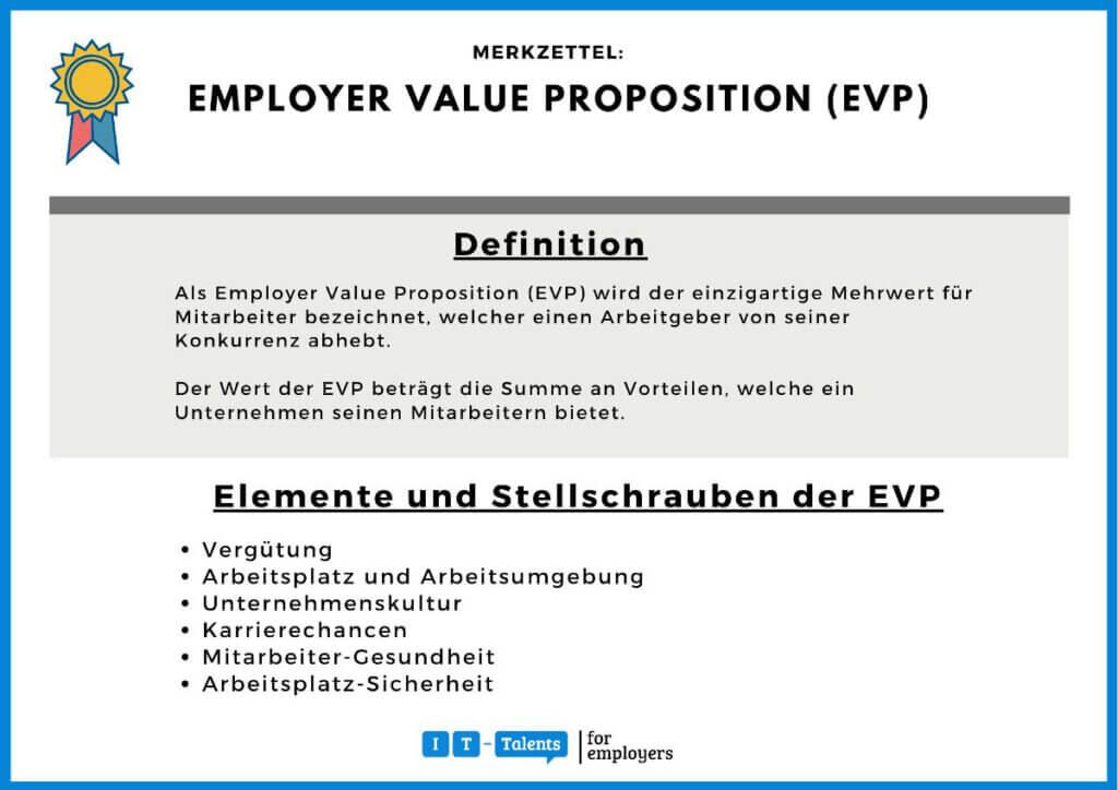 Employer Value Proposition (EVP) Merkblatt