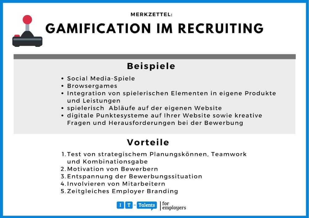 Gamification-Merkblatt